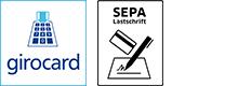 Zahlungsoptionen Girocard und SEPA Lastschrift
